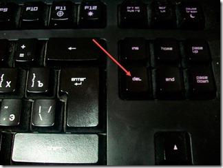 Кнопка Del
