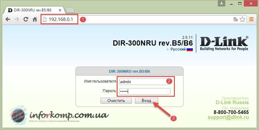 Веб интерфейс роутера