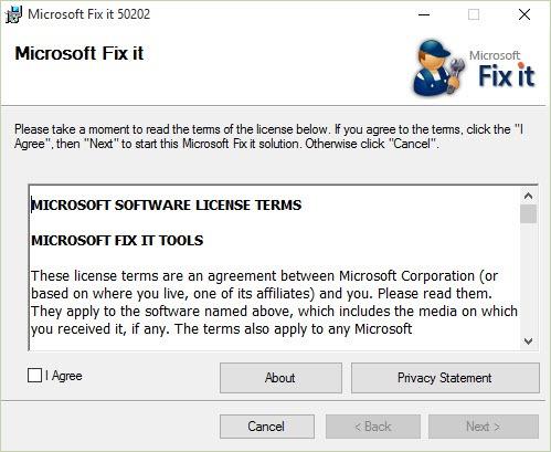 Установка Microsoft Fix