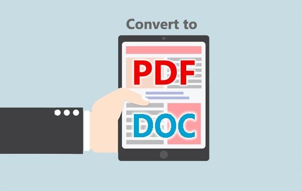 конвертировать PDF в DOC