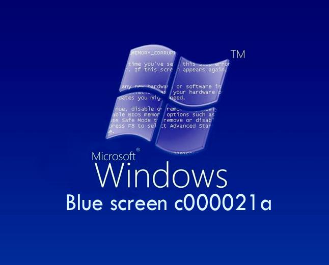 Синий экран c000021a