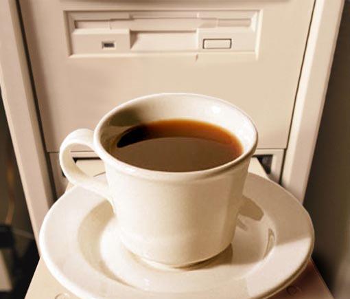 Кофе на системном блоке