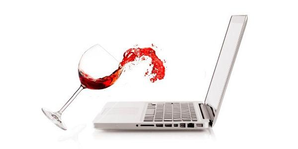 Вино на ноутбуке