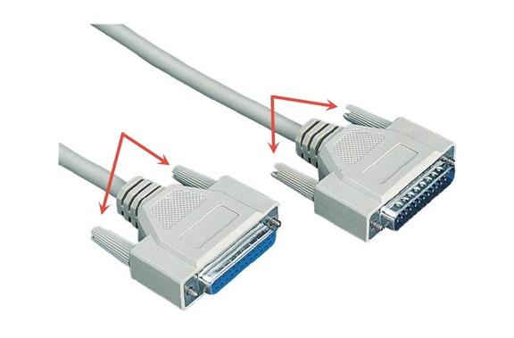 Крипление кабеля LPT