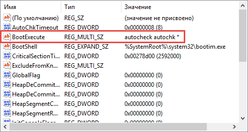 Ключ проверки диска