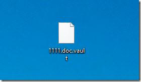 Зашифрованный файл vault