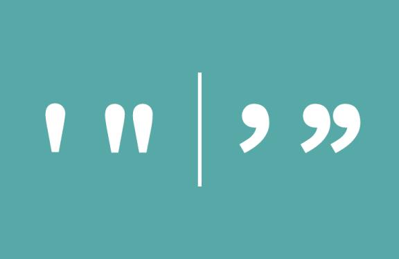 """Изменить тип кавычек с прямых """""""" на двойные «»"""