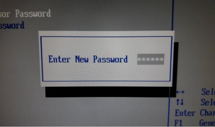 Установить пустой пароль в БИОСе
