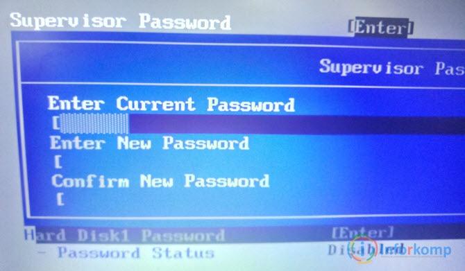 Установка пароля БИОСа