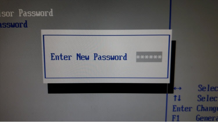 Ввод нового пароля