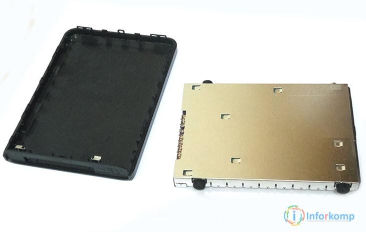 Отсоединить корпус от HDD