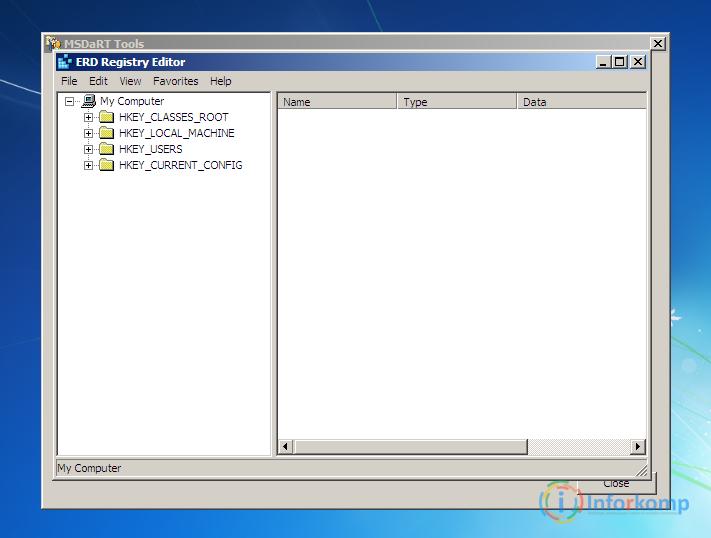 Редактирование реестра в LiveCD