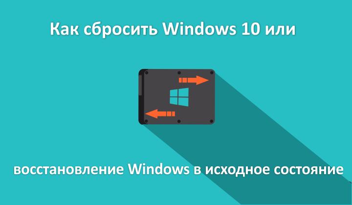 Сброс Windows 10 в исходное состояние