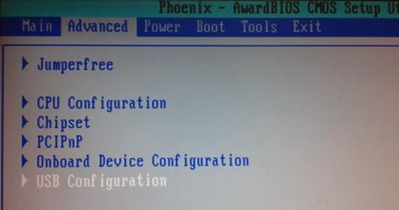 USB Configuration