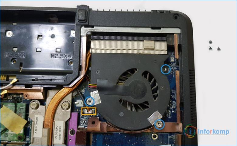 Снимаем кулер на Acer 5720Z