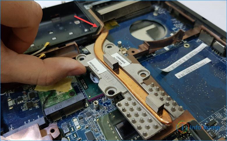 Разборка системы охлаждения Acer Aspire 5720Z
