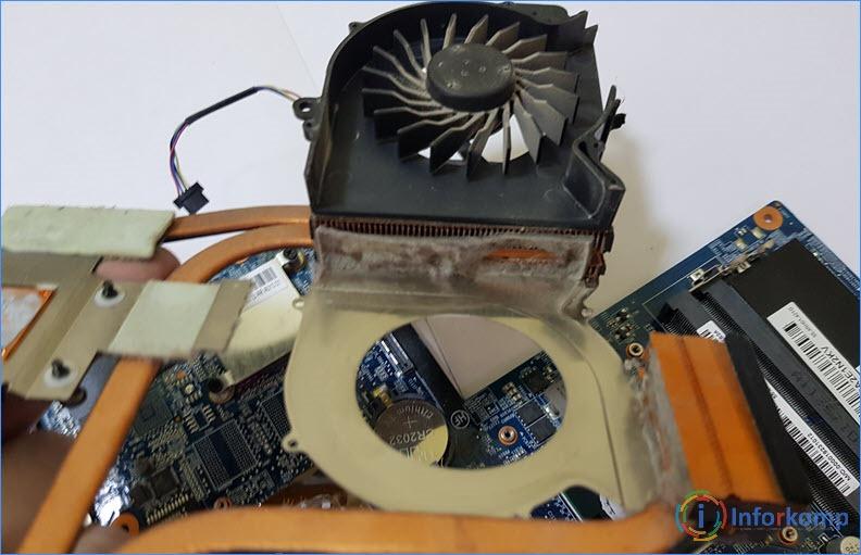 Чистка системы охлаждения ноутбука HP Pavilion dv6
